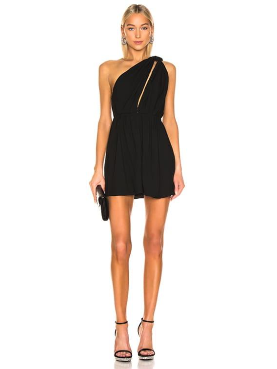 One Shoulder Mini Dress in Black