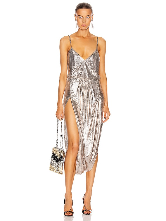 Strappy Metallic Dress in Gold