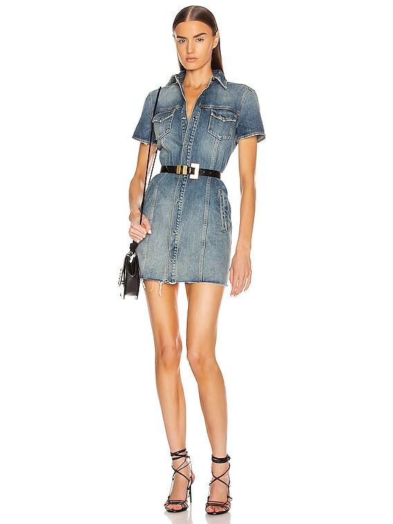 Denim Mini Dress in Arizona Light Blue