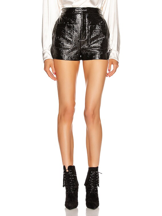 Leather Short in Black