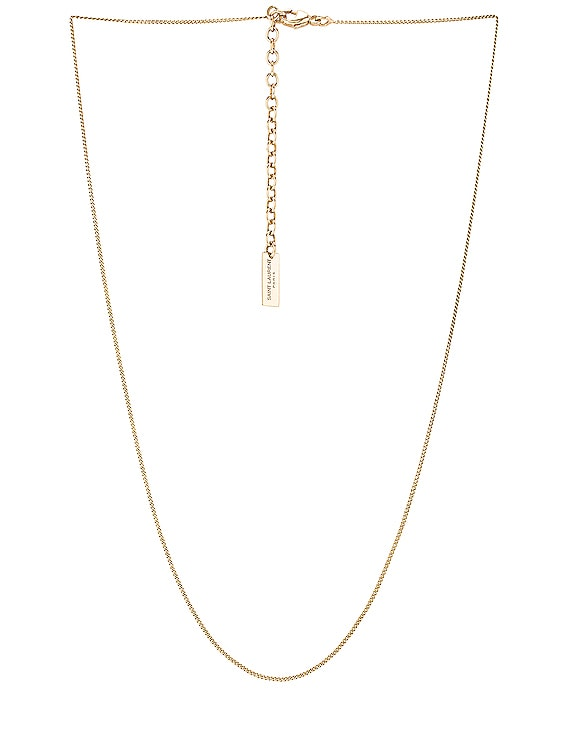 Thin Gourmette Chain Necklace in Light Gold