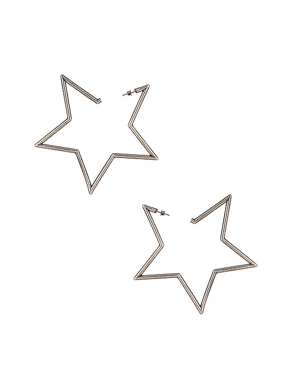 Star Earrings in Silver