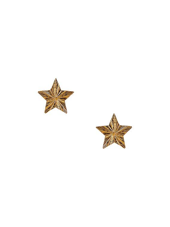 Star Earrings in Bronze