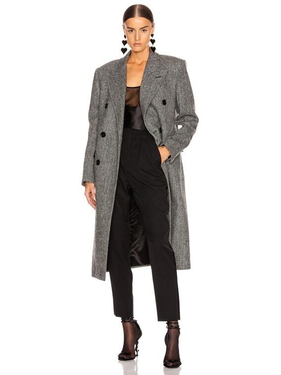 Oversized Coat in Black & White