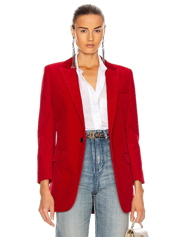 Tailored Blazer in Rouge