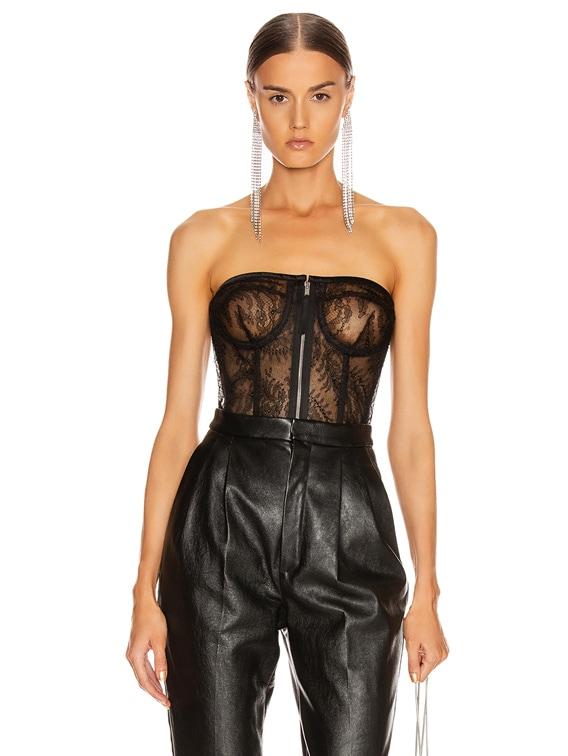 Strapless Bustier Top in Black