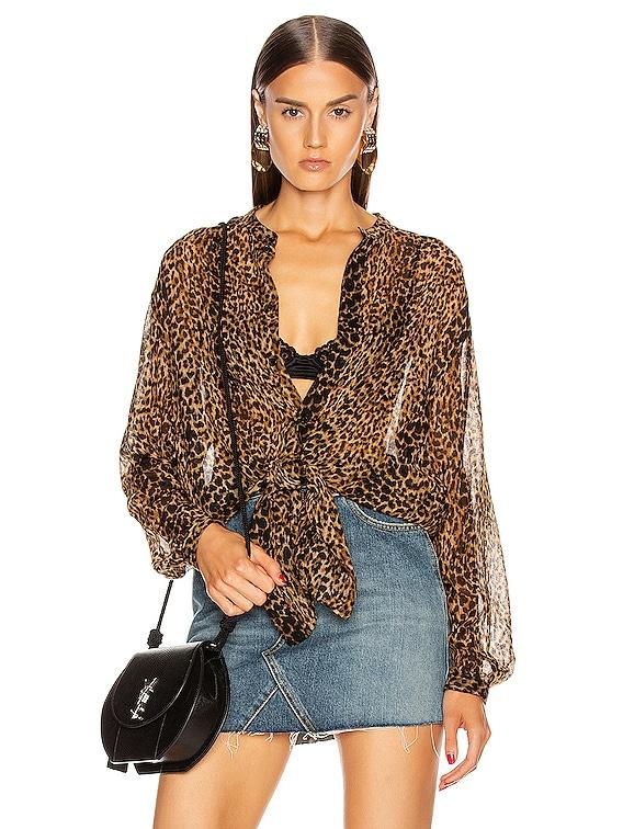 Long Sleeve Top in Leopard