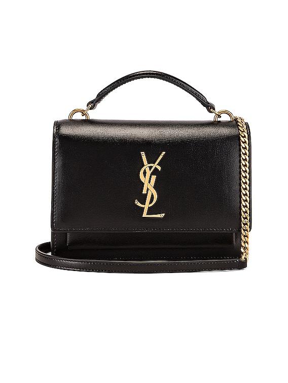Sunset Monogramme Crossbody Bag in Black
