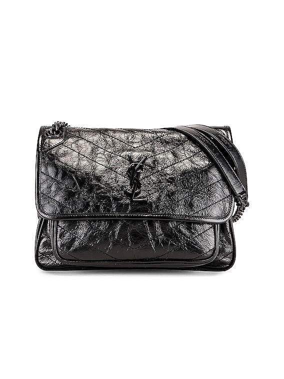 Medium Niki Chain Shoulder Bag in Black