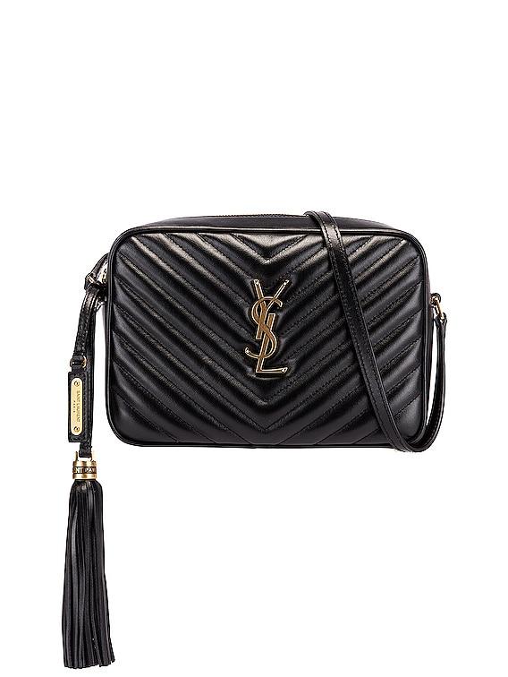 Medium Monogramme Lou Satchel Bag in Black