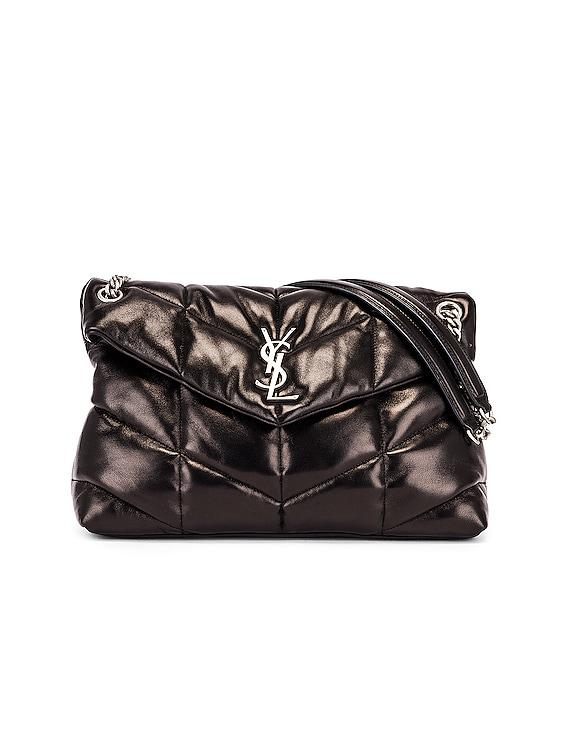 Medium Monogramme Puffer Loulou Shoulder Bag in Black