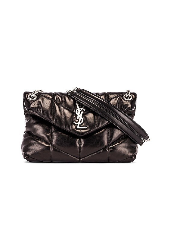 Small Monogramme Puffer Loulou Shoulder Bag in Black