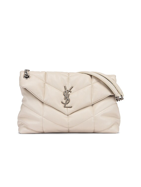 Medium Monogramme Puffer Loulou Shoulder Bag in Crema Soft