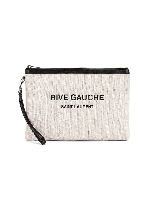 Monogramme Pouch in White & Black