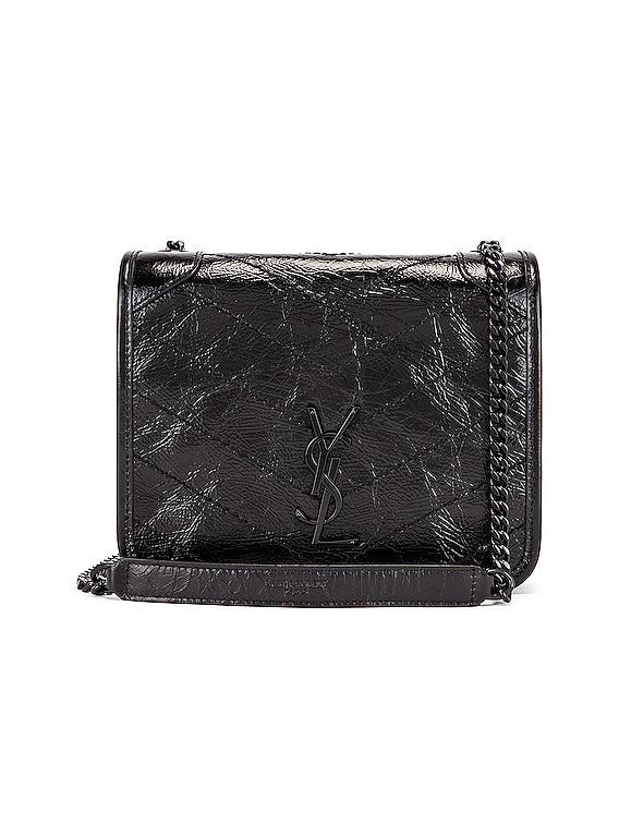 Chain Wallet Bag in Black