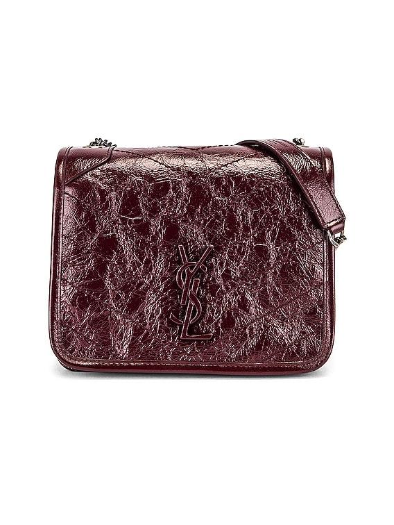 Niki Chain Wallet Bag in Red Velvet