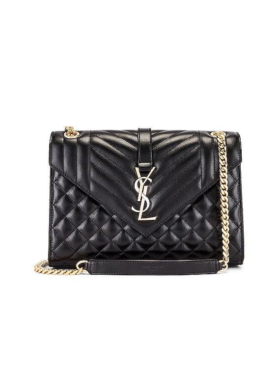 Medium Envelope Monogramme Satchel Bag in Black