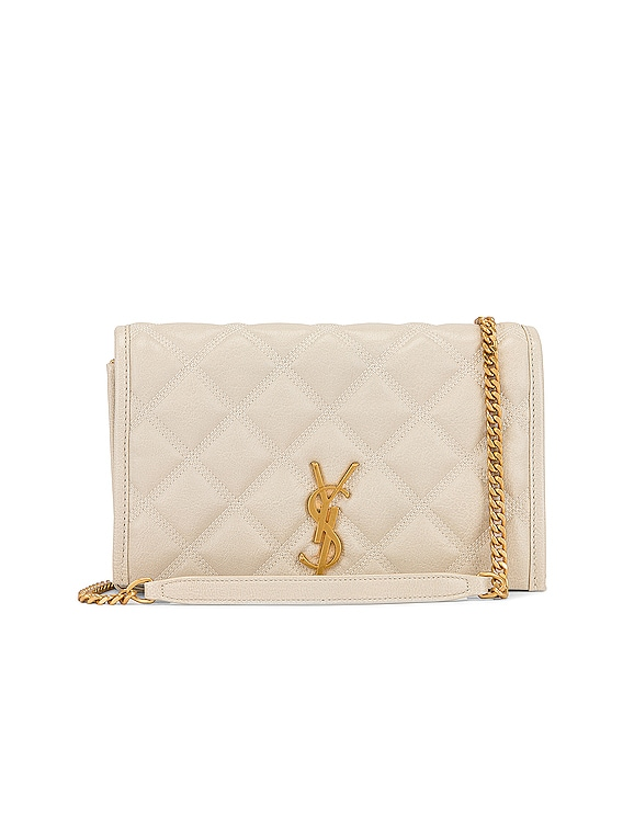 Chain Wallet Bag in Crema Soft