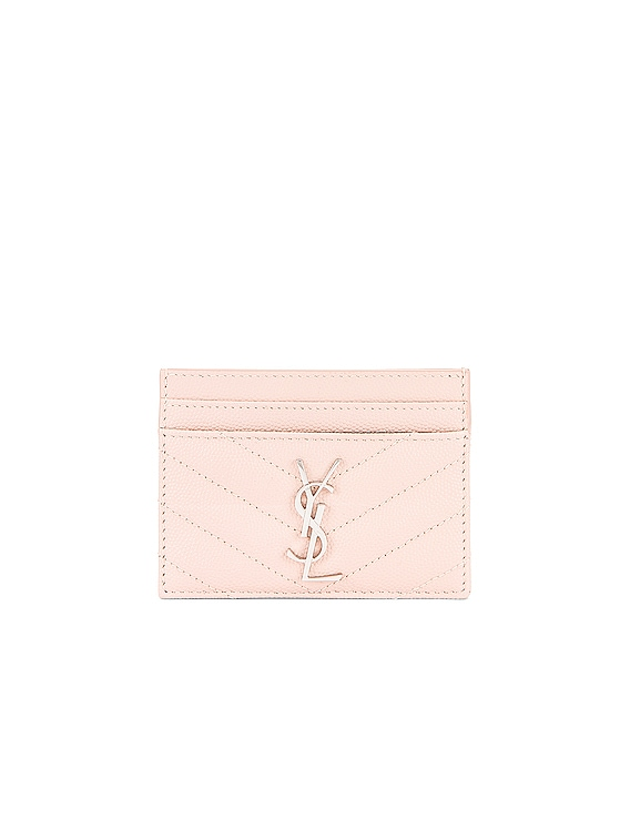 Monogramme Credit Card Case in Marble Pink