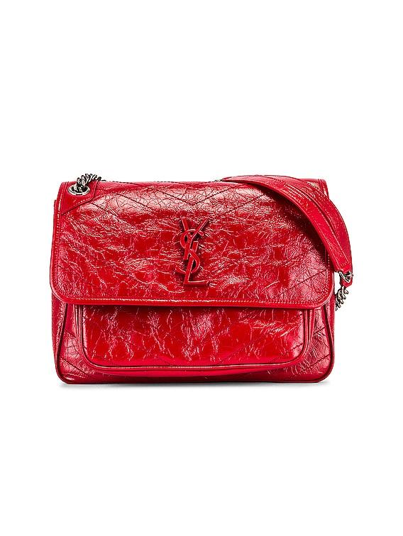 Medium Niki Chain Bag in Rouge Eros