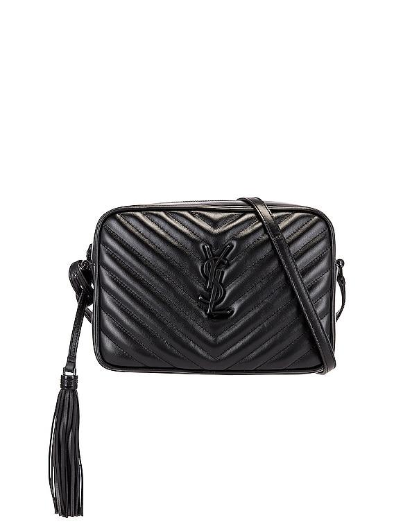 Medium Lou Monogramme Bag in Black