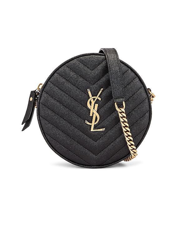 Monogramme Round Bag in Black