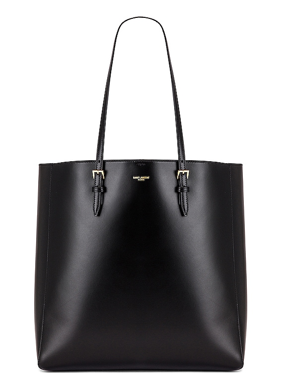 North South Shopping Tote in Black