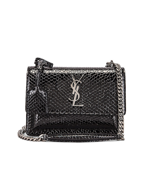 Small Sunset Monogramme Bag in Black