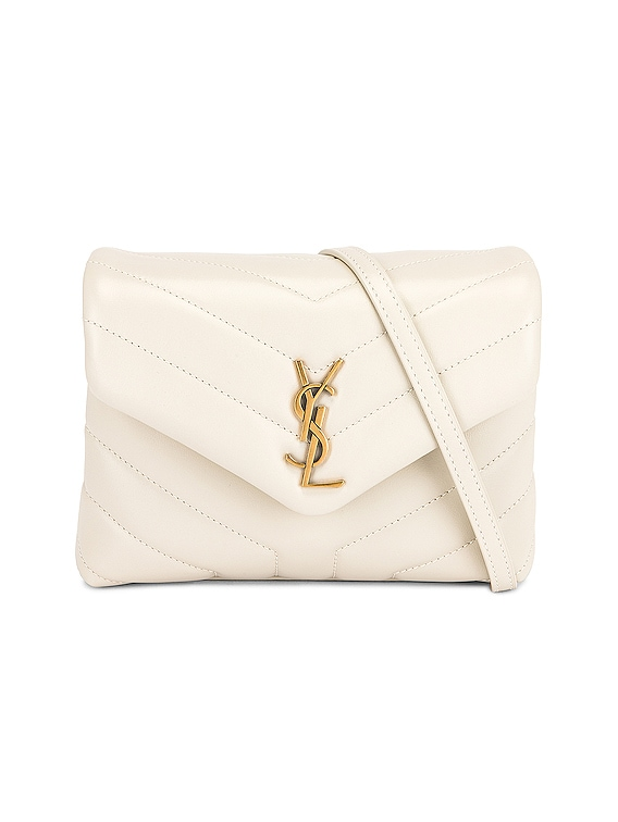 Toy Loulou Strap Bag in Blanc Vintage