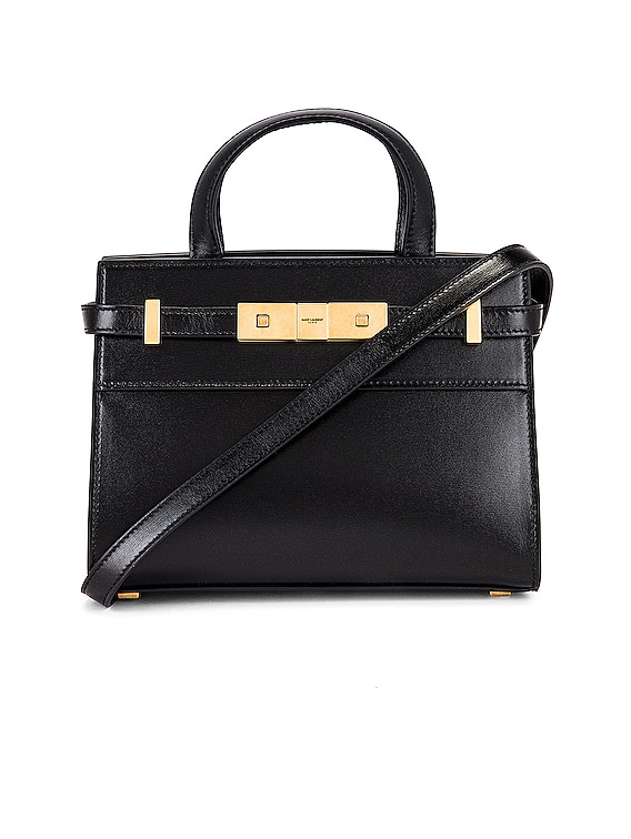 Nano Manhattan Shopping Bag in Nero