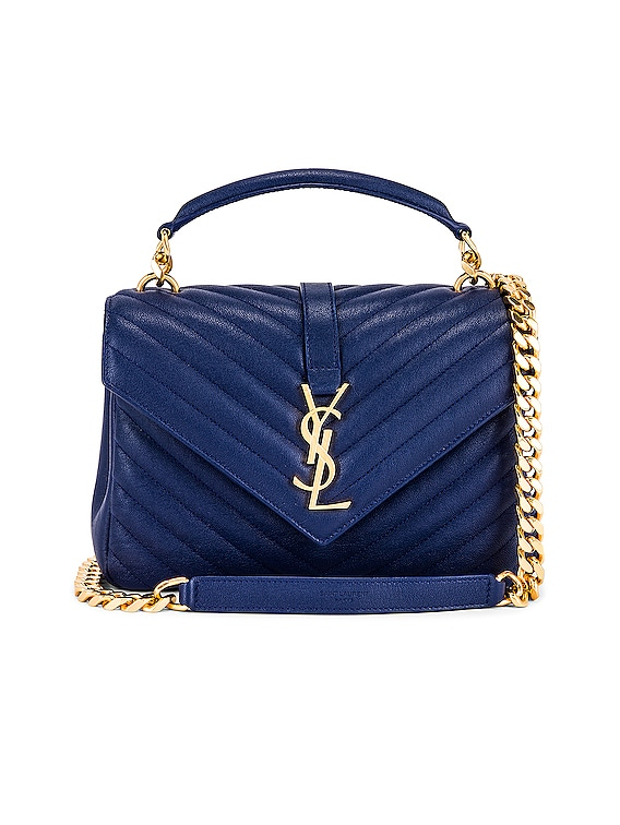 Medium College Monogramme Bag in Royal Blue