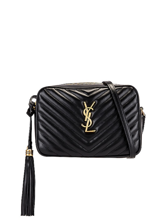 Medium Lou Monogramme Bag in Nero