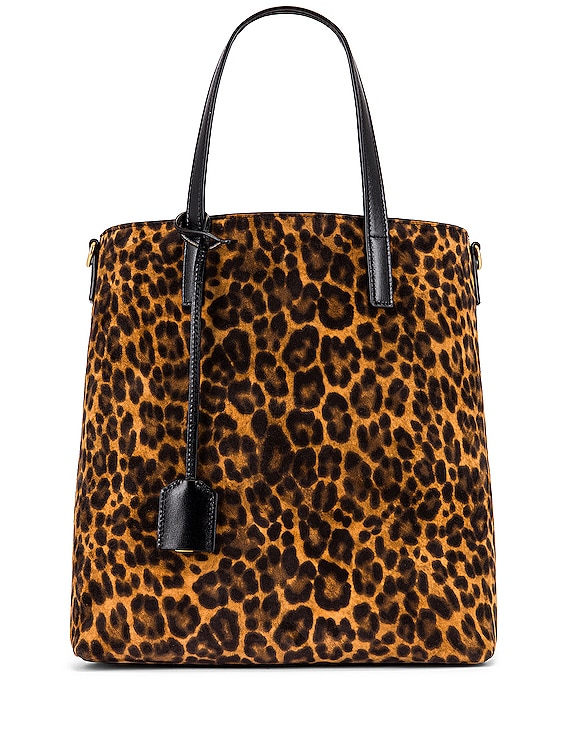Toy Shopping Bag in Manto Naturale & Black