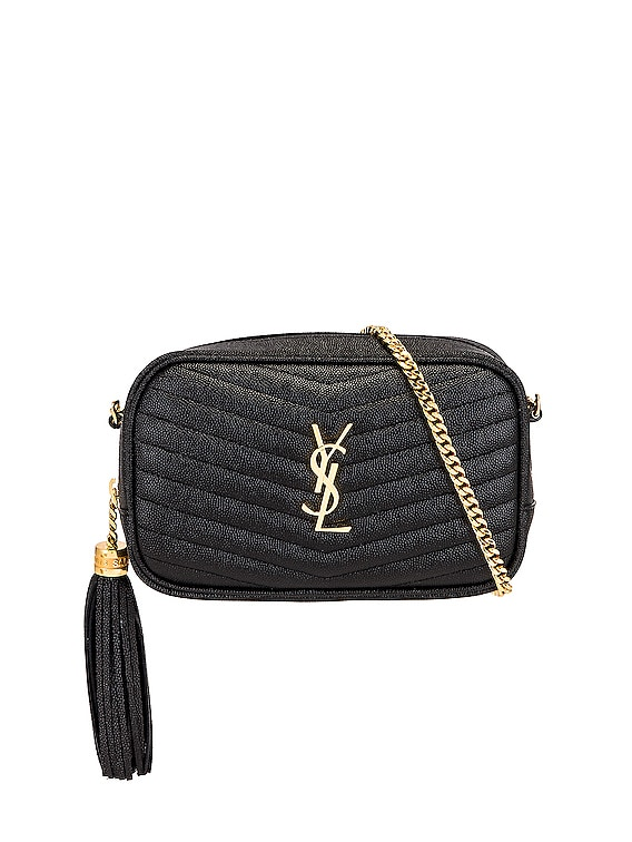 Mini Lou Chain Bag in Nero