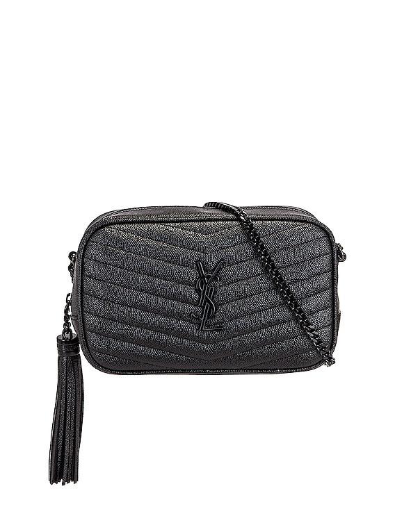 Mini Lou Chain Bag in Nero