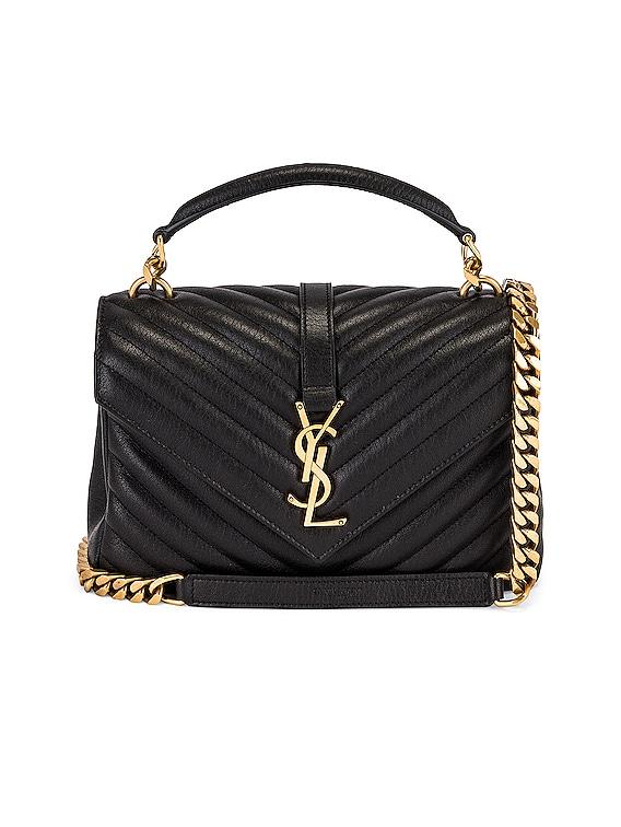Medium College Chain Bag in Noir
