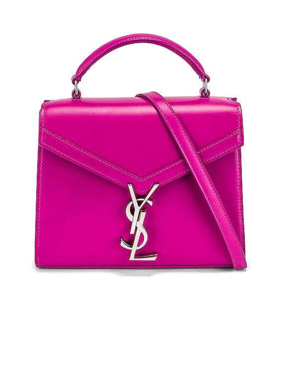 Mini Cassandra Top Handle Bag in Electric Fuchsia