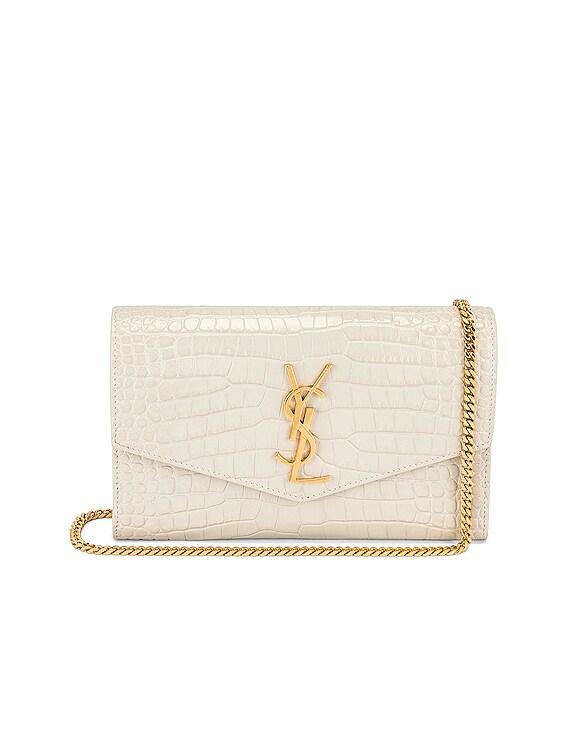 Uptown Wallet on Chain Bag in Blanc Vintage