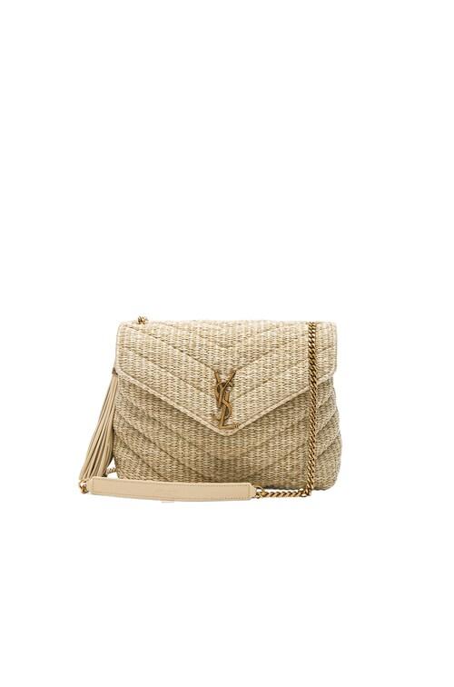 Small Raffia Soft Chain Bag