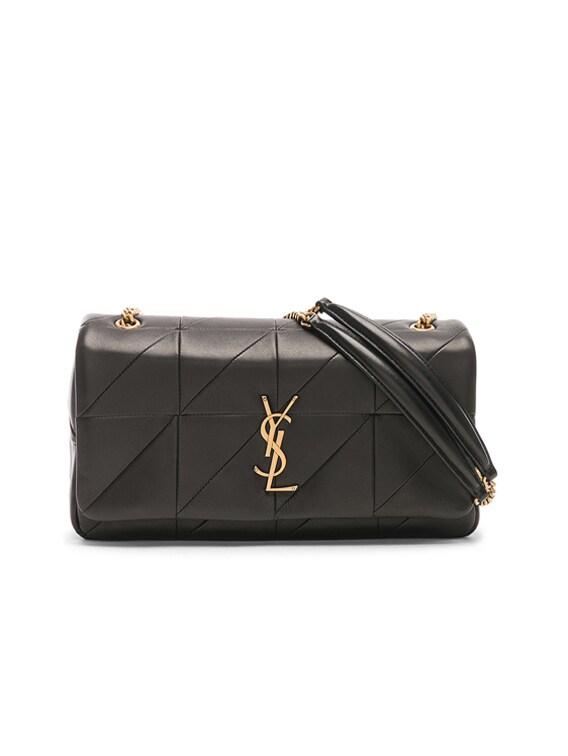 Medium Jamie Monogramme Chain Bag in Black