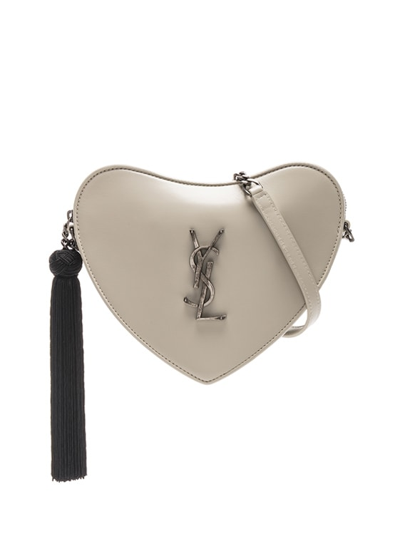 Sac Coeur Monogram Heart Chain Bag in Blanc Vintage & Black