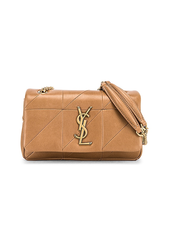 Small Jamie Chain Patchwork Bag in Taupe Fonce