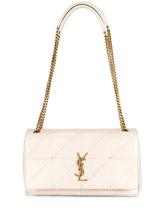 Small Jamie Chain Patchwork Bag in Blanc Vintage