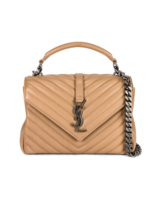 Medium Monogramme College Bag in Taupe Fonce