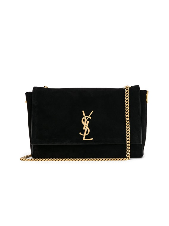 Medium Kate Reversible Chain Bag in Black
