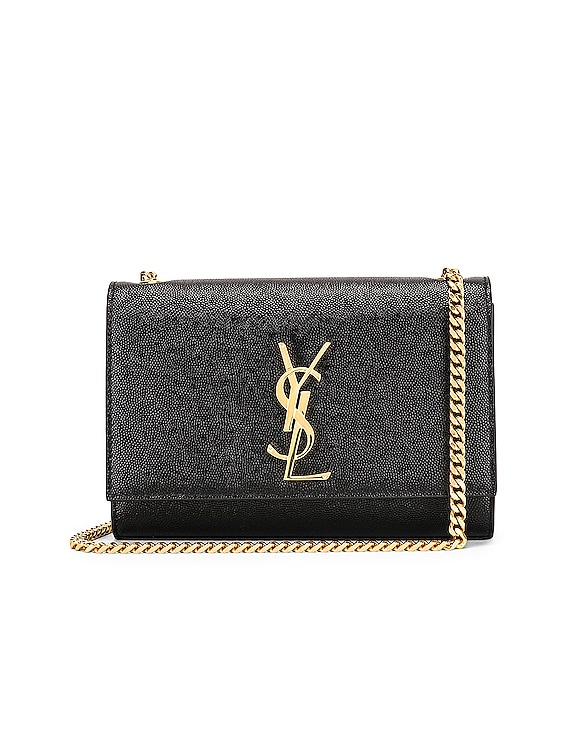 Small Kate Monogramme Chain Bag in Black