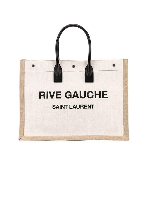 Noe Tote Bag in White & Black