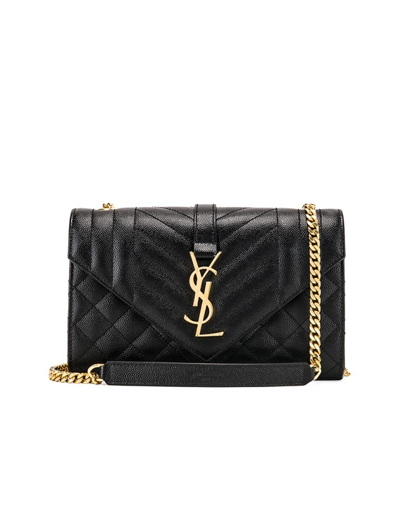 Small Monogramme Envelope Chain Bag in Black