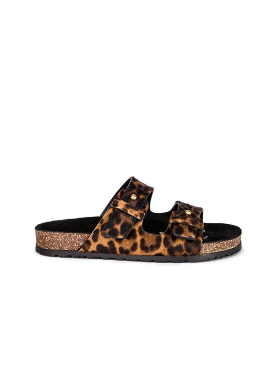 Leopard Jimmy Slide in Natural