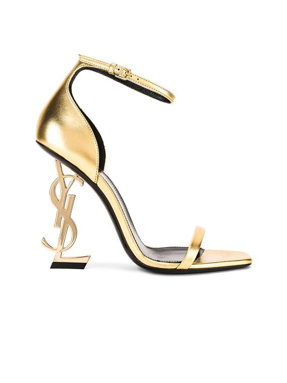 Saint Laurent Logo Ankle Strap Heel in